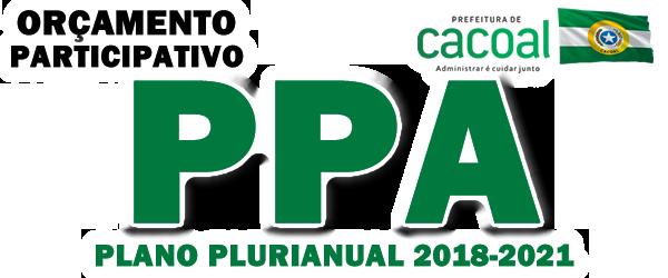 PPA – Prefeitura Municipal de Cacoal